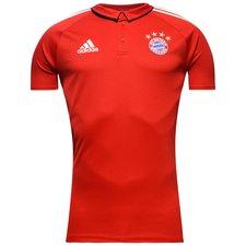 Image of   Bayern München Polo - Rød/Hvid