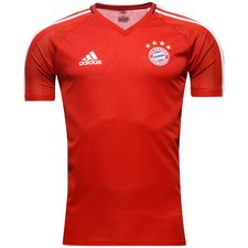 bayern münchen training t-shirt - true red/white - training tops
