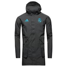 real madrid jacket all weather ucl - black/vivid teal - jackets