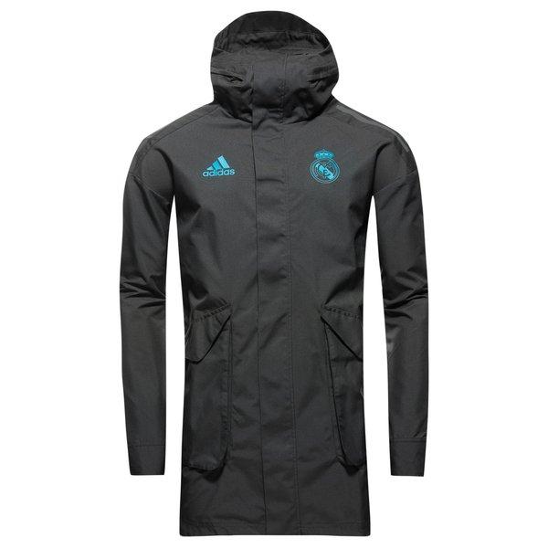 2016–2017 Real Madrid Adidas Allweather Jacke (weiß