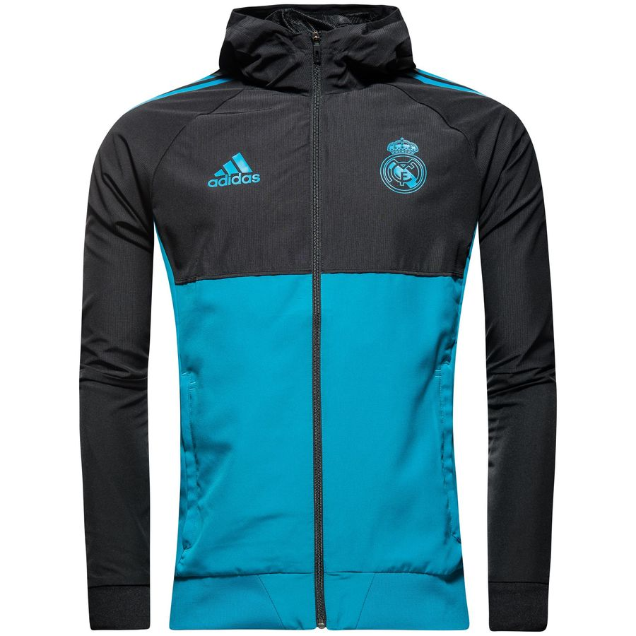Real Madrid Trainingsjacke Presentation UCL SchwarzTürkis