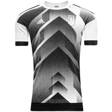 juventus training t-shirt pre-match - white/black - training tops