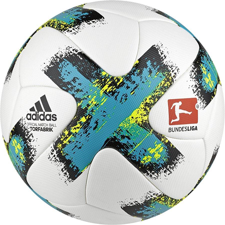 new styles 80344 1210a adidas football torfabrik bundesliga 2017 18 match ball - white energy blue  - footballs ...