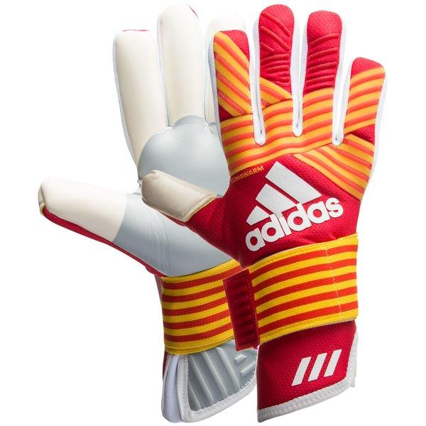 arco Depender de Abigarrado  adidas Goalkeeper Gloves ACE Trans Climawarm Pyro Storm - Scarlet/Equipment  Yellow/White | www.unisportstore.com