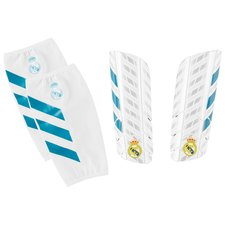 Real Madrid Benskydd Pro Lite - Vit/Turkos