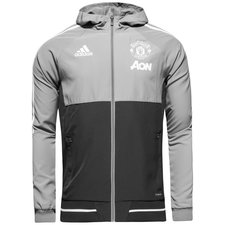 manchester united jacket presentation - grey/white kids - jackets