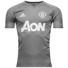 Manchester United Tränings T-Shirt - Grå/Vit Barn