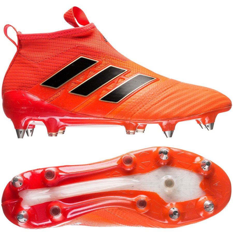 new arrival d858c 436e7 adidas ace 17+ purecontrol sg pyro storm - orange noir rouge - chaussures  ...