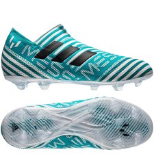 adidas Nemeziz Messi 17+ 360Agility FG/AG - Wit/Navy/Blauw Kinderen