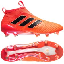 adidas ACE 17+ PureControl FG/AG Pyro Storm - Orange/Sort/Rød