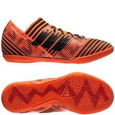 adidas nemeziz tango 17.3 in pyro storm - orange/sort/rød børn - indendørssko