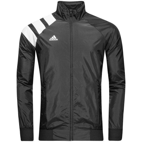 adidas træningsjakke tango woven - sort/hvid - træningsjakke