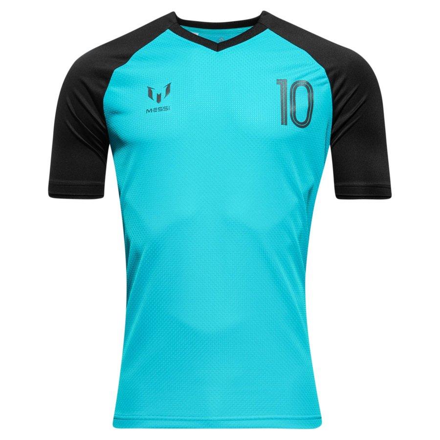 adidas training t-shirt messi icon - energy blue black kids - training tops  ... 1bcc81bc9