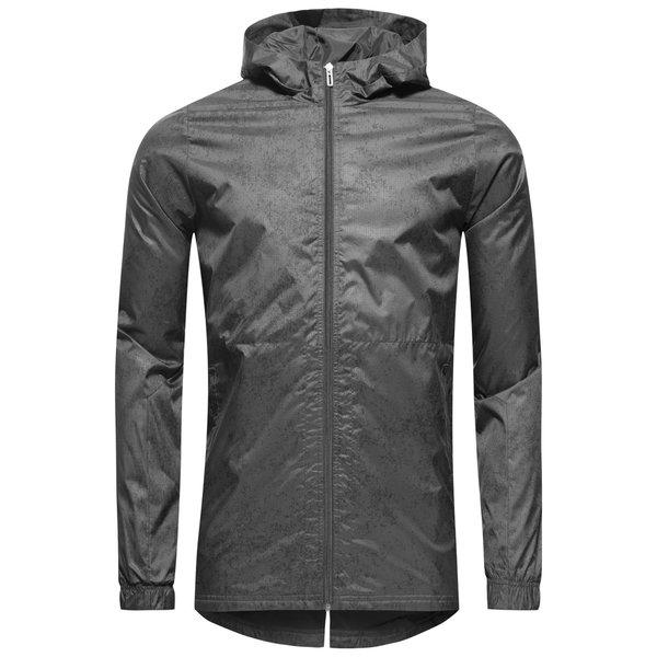adidas træningsjakke - grå/sort børn - jakker