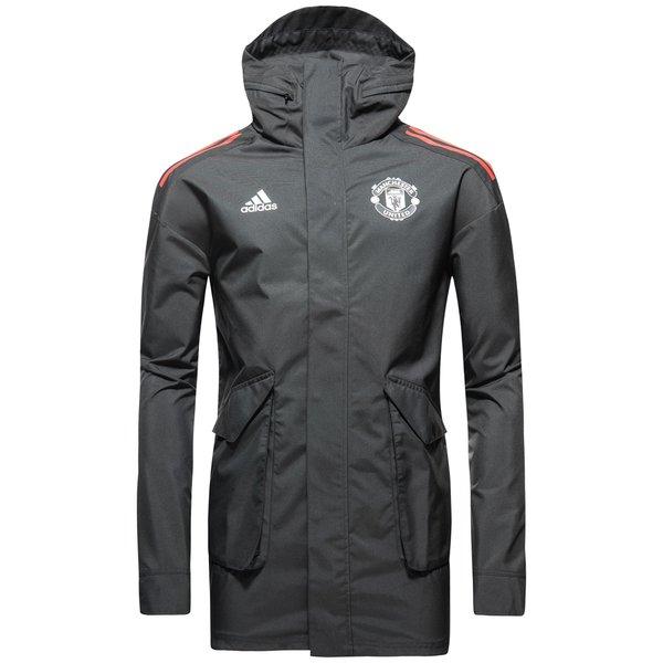 Manchester United Jakke All Weather UCL SortRød