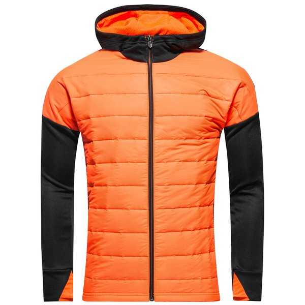 63d77e7d549 adidas Jacket Messi Pyro Storm - Black Solar Orange Kids