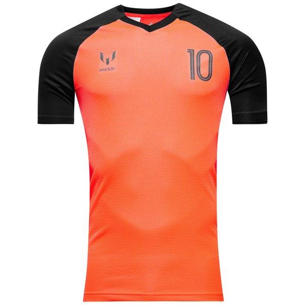 adidas T shirt d'Entraînement Messi Icon Pyro Storm OrangeNoir Enfant