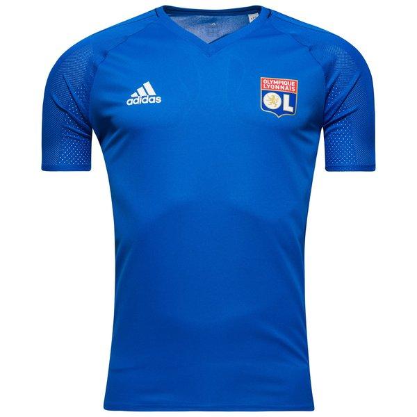 lyon trænings t-shirt - blå/navy/hvid - træningstrøjer