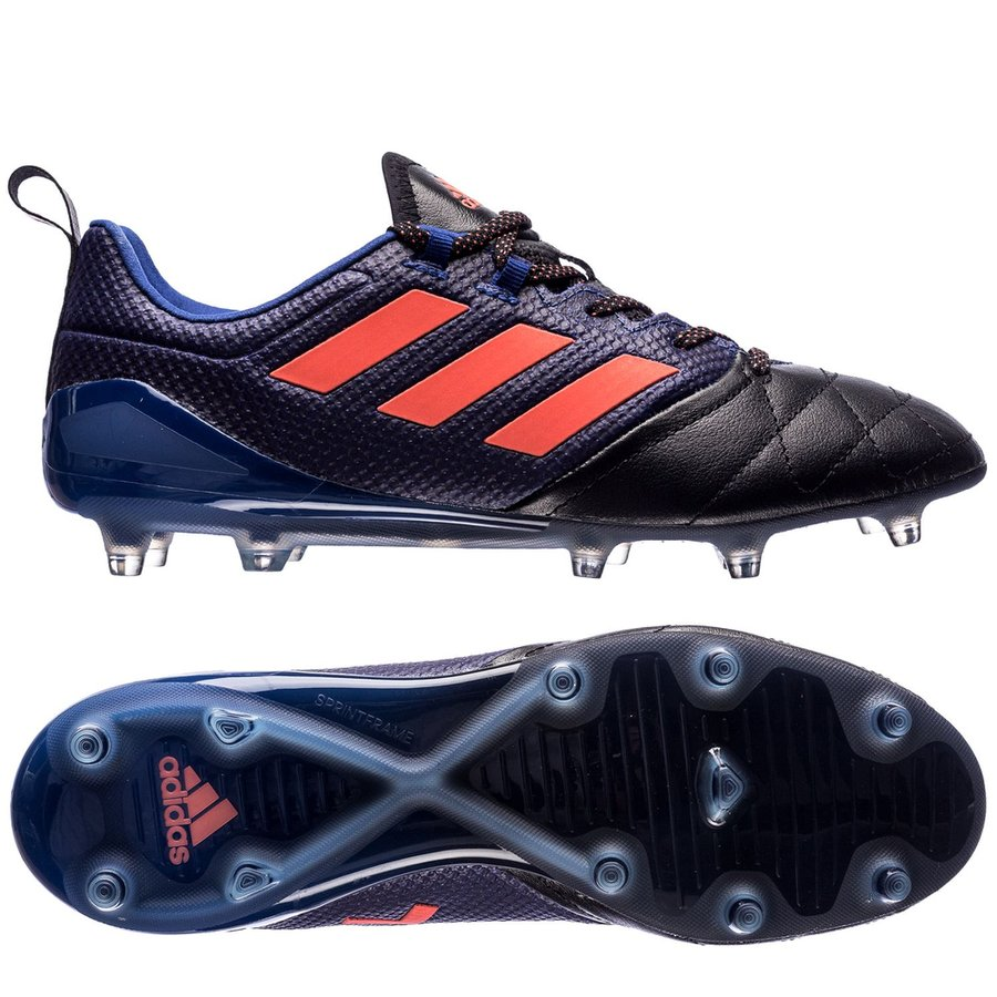adidas ace 17.1 leather fg/ag dust storm - mystery ink/easy coral/