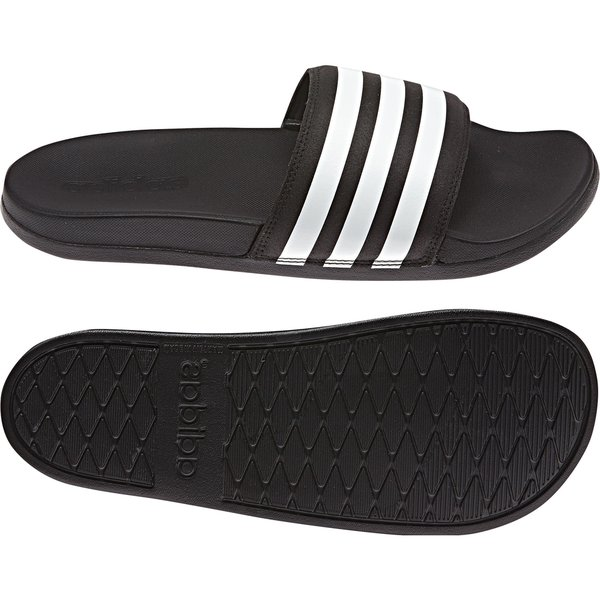 54367325776 adidas Claquettes adilette Cloudfoam Plus - Noir Blanc 0
