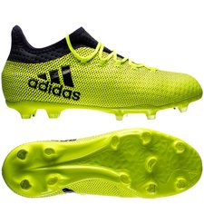 adidas x 17.1 fg/ag ocean storm - gul/navy børn - fodboldstøvler