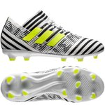 adidas Nemeziz 17.1 FG/AG Dust Storm - Footwear White/Solar Yellow/Core Black Kids