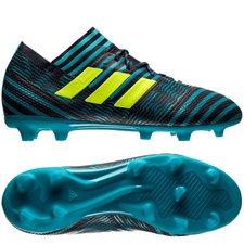 adidas nemeziz 17.1 fg/ag ocean storm - legend ink/solar yellow/energy blue kids - football boots