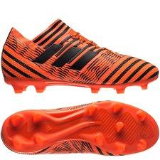 adidas nemeziz 17.1 fg/ag pyro storm - orange/sort/rød børn - fodboldstøvler