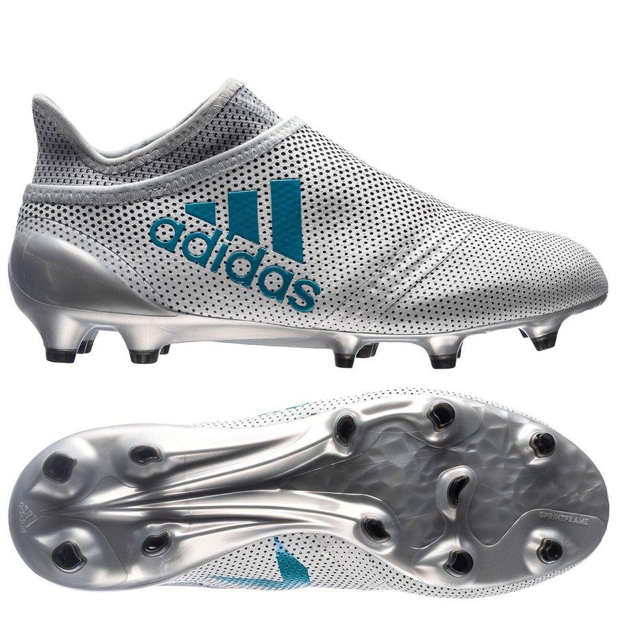 size 40 cca09 aa50c adidas x 17+ purespeed fgag dust storm - hvitblågrå ...