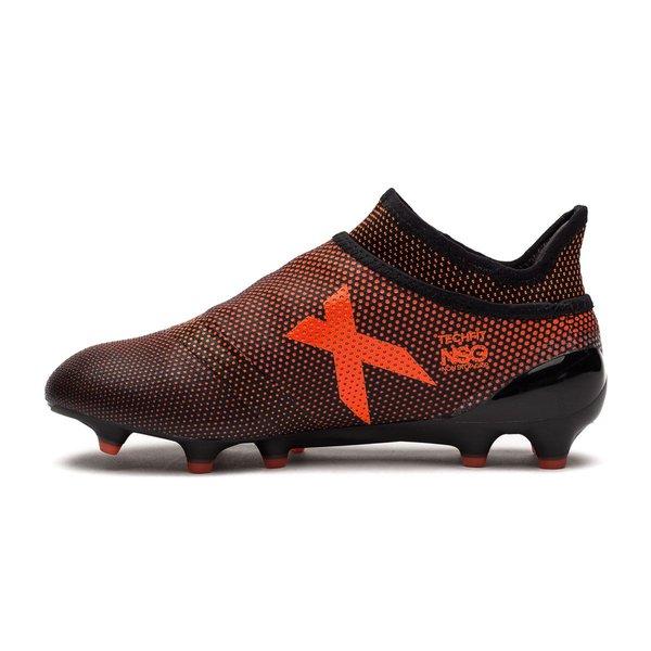 462ae9666 adidas X 17+ PureSpeed FG/AG Pyro Storm - Noir/Rouge/Orange Enfant ...