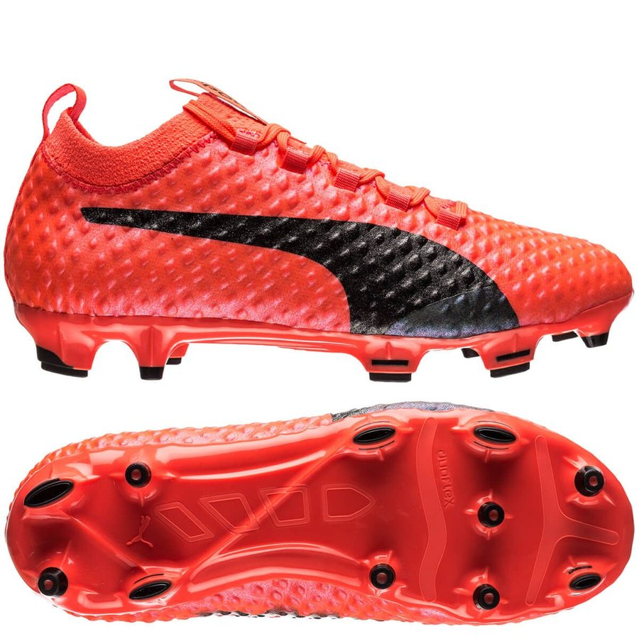 88db3d17ae2 puma evopower vigor 3d fire 1 fg - fiery coral kids limited edition -  football boots ...