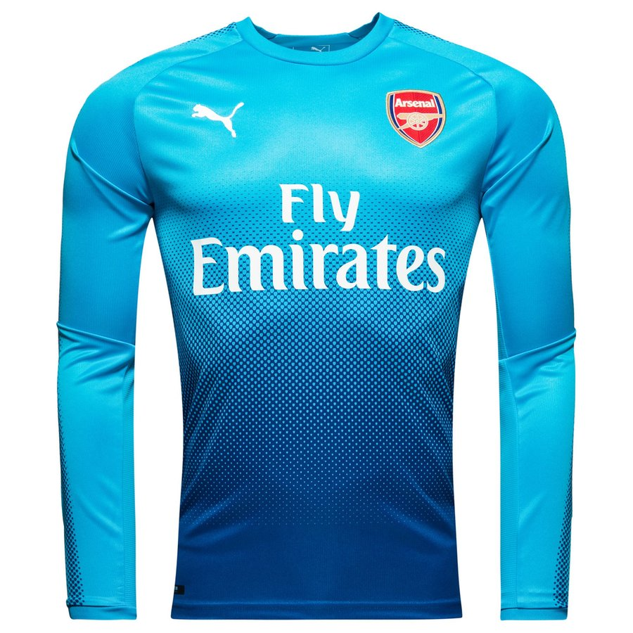 Arsenal maillot ext rieur 2017 18 manches longues www for Maillot arsenal exterieur 2017