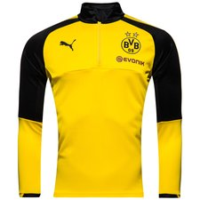 dortmund training shirt 1/4 zip - yellow kids - training tops