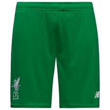 liverpool goalkeeper shorts 2017/18 green kids - football shorts