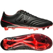 new balance furon 3.0 k-leather fg - black/red - football boots