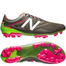 new balance furon 3.0 pro ag - brown/military triumph green/pink - football boots