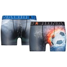 cr7 underwear underbukser 2-pack - sort/blå/orange børn - undertøj