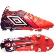 umbro medusae ii elite hg - bordeaux/hvid/rød - fodboldstøvler