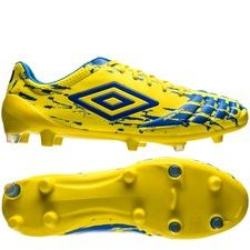 umbro ux accuro pro hg - blazing yellow/electric blue - football boots