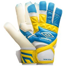 umbro målmandshandske neo valor rollfinger cut - blå/hvid/gul - målmandshandsker
