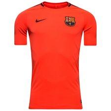 barcelona trænings t-shirt breathe squad - orange/bordeaux - træningstrøjer