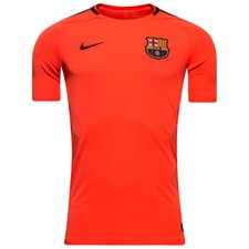 barcelona training t-shirt breathe squad - hyper crimson/night maroon kids - training tops