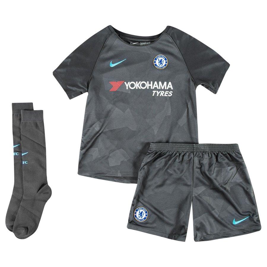 chelsea third shirt 2017 18 mini-kit kids - football shirts ... 7ff677f31