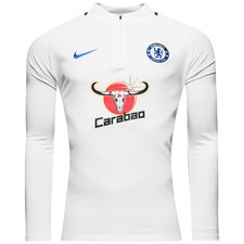 chelsea training shirt dry squad drill - white/rush blue - training tops