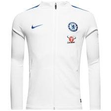 chelsea træningsjakke dry strike - hvid/blå - træningsjakke