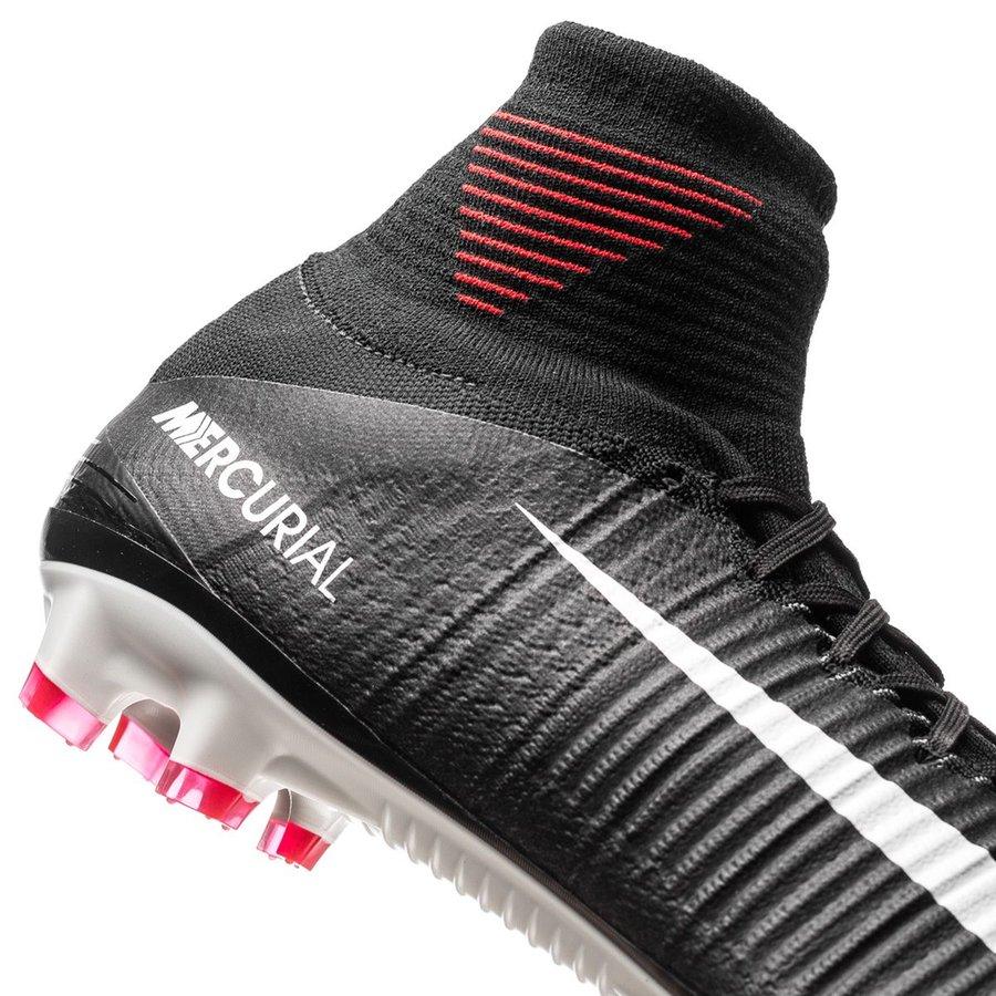 Nike Mercurial Superfly V FG Pitch Dark SortHvitRød