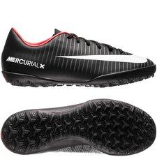 Nike MercurialX Victory VI TF Pitch Dark - Zwart/Wit/Rood Kinderen