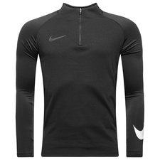 nike training shirt dry squad drill - black/white - training tops