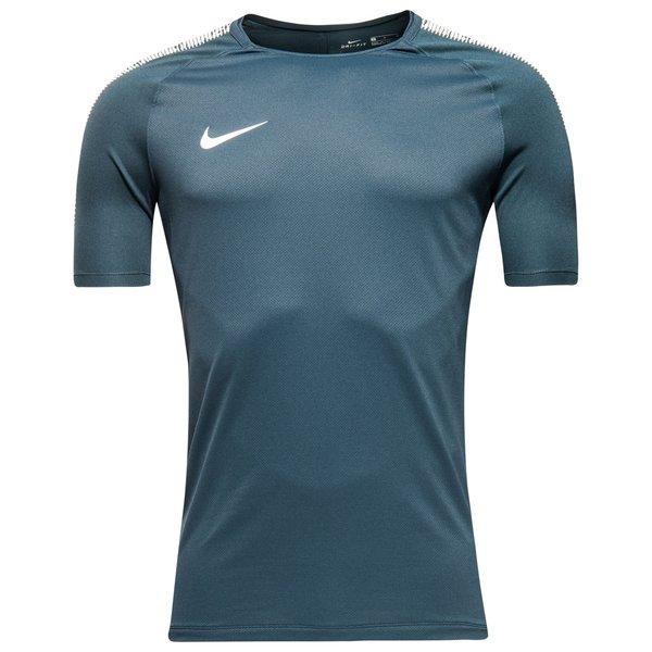 nike trænings t-shirt breathe squad - blå/hvid - træningstrøjer