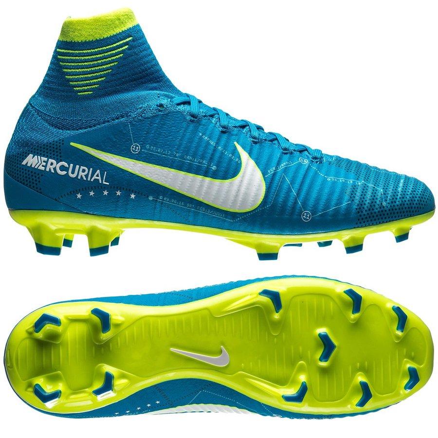 Uk Nike Mercurial Superfly V Fg Footballe Blau Grun Schwarz